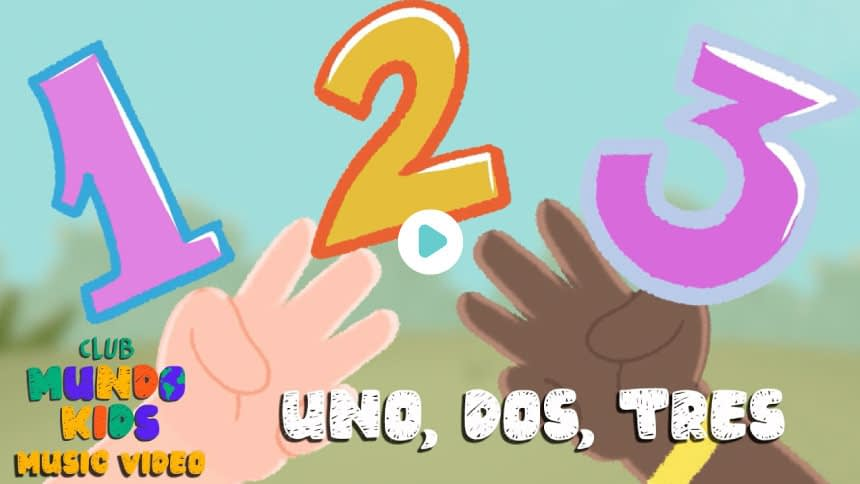 Uno dos y tres (Video Music) - Club Mundo Kids